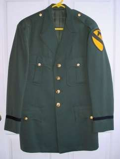 US Army 1st Cavalry Division FIRST TEAM Officers AG 344 Uniform Coat
