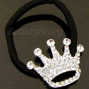 SHIPPING rhinestone crystals hair scrunchie ponytail holder