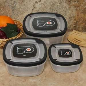 Philadelphia Flyers Plastic Food Storage Container Set