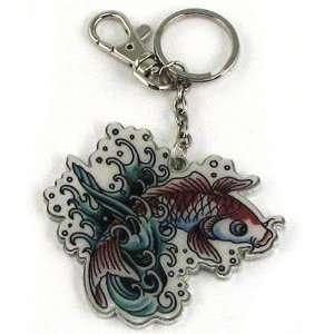 Ed Hardy Koi Fish Keychain Toys & Games