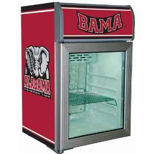Alabama Crimson Tide Glass Door Refrigerator