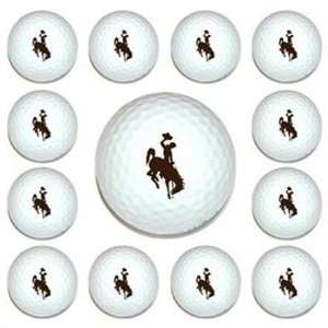 University Wyoming Cowboys Dozen Pack Golf Balls New