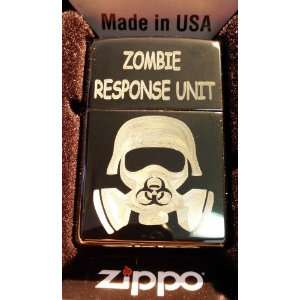 Zippo Custom Lighter   Biohazard Toxic GAS Mask Zombie