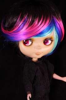 Short Funky Highlighted Hair Wig for 12 Blythe Doll