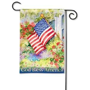 New Magnet Works Ltd. God Bless America Garden Flag Fade