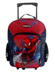 Spiderman Rolling Backpack on wheels Large bag luggage