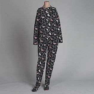Womens Footie Pajamas  Hello Kitty Clothing Intimates Sleepwear