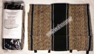 Full Size Truck Bench Seat Cover Saddle Blanket, BLACK