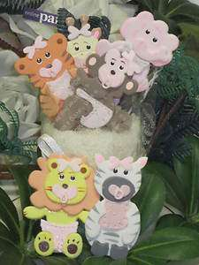 Baby Shower Safari Jungle Animals Favors Girl Cupcake Caketop