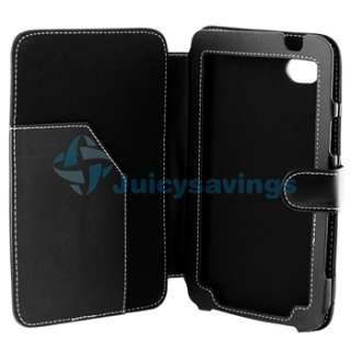 Black 7 Flip Leather Case Cover For Samsung Galaxy Tab P1000