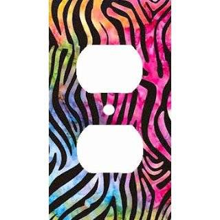 Rainbow Zebra Skin Print Decorative Outlet Cover