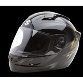 Graphic Helmet. Black/Gold by Suzuki. OEM 990A0 20101 Automotive