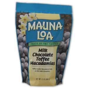 Mauna Loa Macadamias, Milk Chocolate Toffee, 11 Ounce Packages: