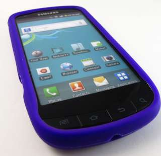 PURPLE SOFT RUBBER SILICONE GEL SKIN CASE COVER SAMSUNG GALAXY S
