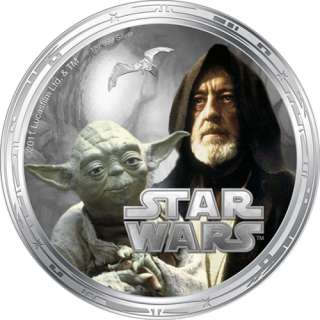 2011 Niue 4 Coin Silver Millennium Falcon Star Wars Proof Set   New