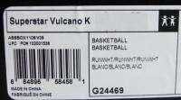 ADIDAS G21095 SUPERSTAR VULCANO K YOUTH BASKETBALL SHOES WHITE