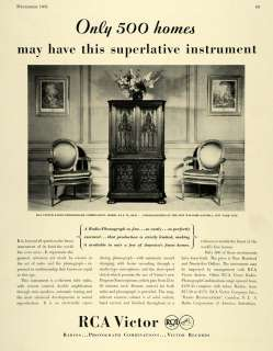 1931 Ad RCA Victor Radio Phonograph Home Cabinet Record   ORIGINAL