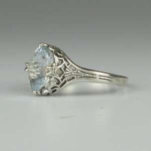 WHOLESALE Edwardian Inspired Sterling Silver Filigree Ring 2ct