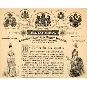 Ad Redfern Tailor Habit Maker Clothing Store Women Original Print Ad
