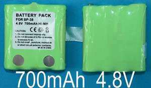 2x Battery Packs For Uniden 2/Two Way Radio BP 38 BP 40