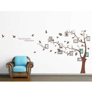 Memory Tree PVC Wall Decal Stickers   Brown