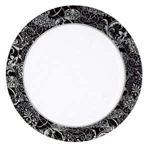 Wedding Silhouette Paper Dessert Plates