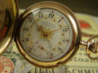 FANCY AMERICAN WALTHAM 1892 GOLD FILLED HUNTERS POCKET WATCH GOLD