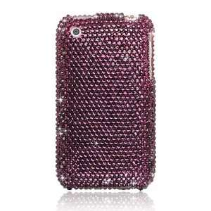 Super Premium iPhone 3G 3GS Bling Hard Case PURPLE GEMS Electronics