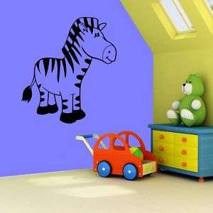 Kids Room Zebra Vinyl Wall Decal Sticker Big 23x20