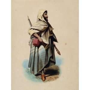 1843 Print Costume Ethnic Bedouin Arab Man Africa   Hand