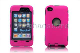 Rubber Skin Cover Hard Heavy duty Case for Apple iPod Touch 4 4th Gen