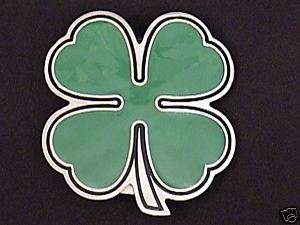 SHAMROCK Belt Buckle four leaf clover st. patricks day