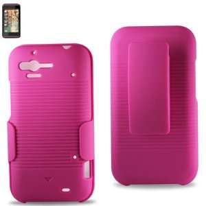 HTC Rhyme Holster Combo Case Hot Pink W/Kickstand W/Screen
