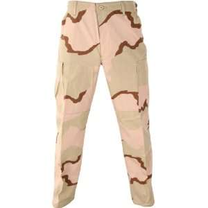 BDU Pants Tri Color Desert Camouflage; Size X Large