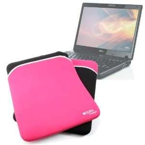 DURAGADGET Lightweight Black & Pink Reversible Laptop Case