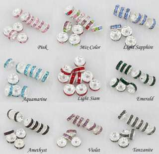 3mm Bulk Wholesale Crystal Silver Plated Big Hole Charm European Beads