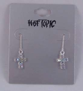 TWO PAIR STAR & CROSS EARRINGS BY HOT TOPIC #E1049/50