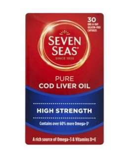 Seven Seas Pure Cod Liver Oil   Extra High Strength   30 capsules