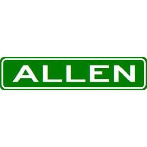 ALLEN City Limit Sign   High Quality Aluminum