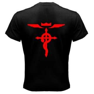 FMA Full Metal Alchemist Edward Alphonse Cross T shirt