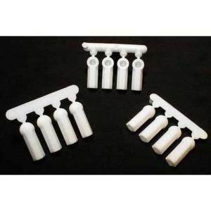 RPM 73381 HEAVY DUTY WHITE 4 40 ROD ENDS/BALL CUPS LOSI