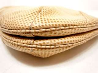 Vintage JUDITH LEIBER Beige Clutch/Shoulder Handbag