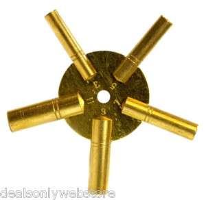 Universal Antique Grandfather Brass Clock Key (Odd)