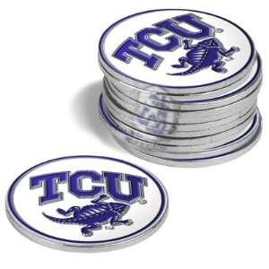 {4} TCU Horned Frogs Golf Ball Markers