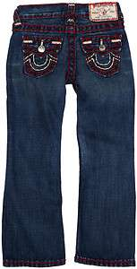 NWOT True Religion Kid Boys Red Stitch Super T Denim Jean SZ 8,10,12