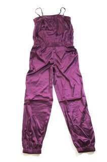VERO MODA Overall Jumpsuit Catsuit Lila Gr.M Satin NEU
