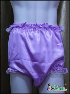 Adult baby Sissy Satin Frilly Diaper Cover FSP08 2#