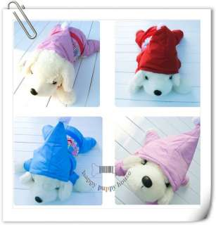 Warm snowsuits jumpers Hoodie Pink Red Christmas Blue dog pet coats