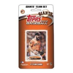 San Francisco Giants 2012 MLB Team Card Set Sports