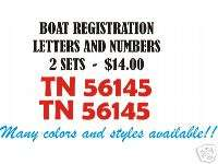 Custom BOAT REGISTRATION NUMBERS LETTERS Decal Stickers